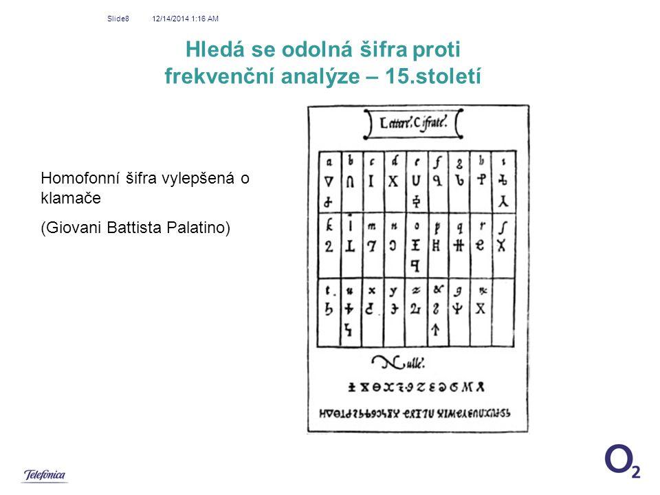 Hledá se odolná šifra proti frekvenční analýze – 15.století