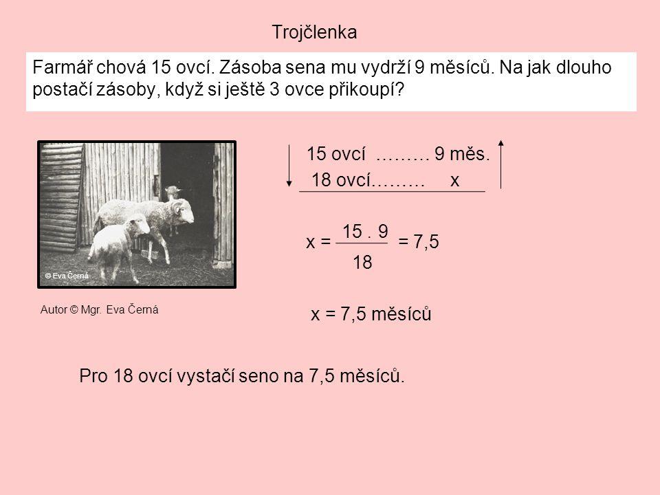 Pro 18 ovcí vystačí seno na 7,5 měsíců.