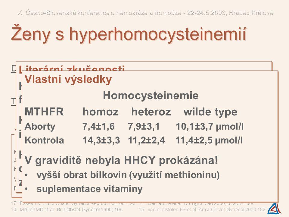 Ženy s hyperhomocysteinemií