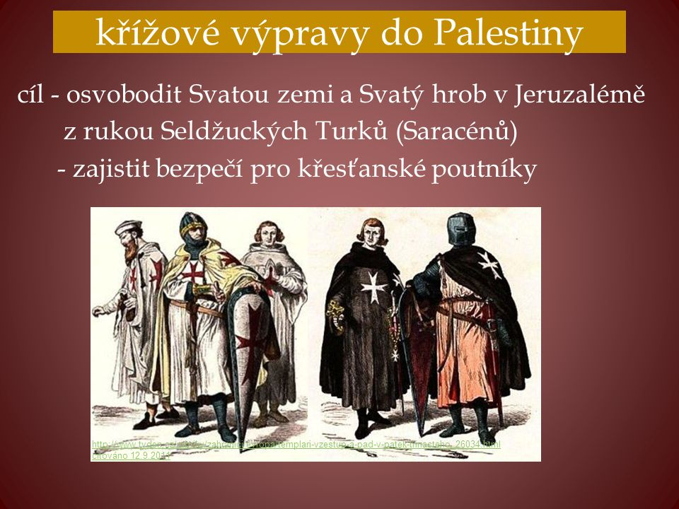 křížové výpravy do Palestiny