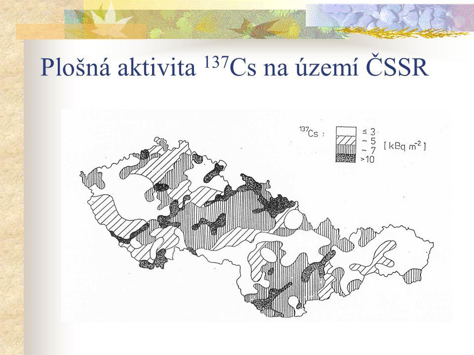 Plošná aktivita 137Cs na území ČSSR