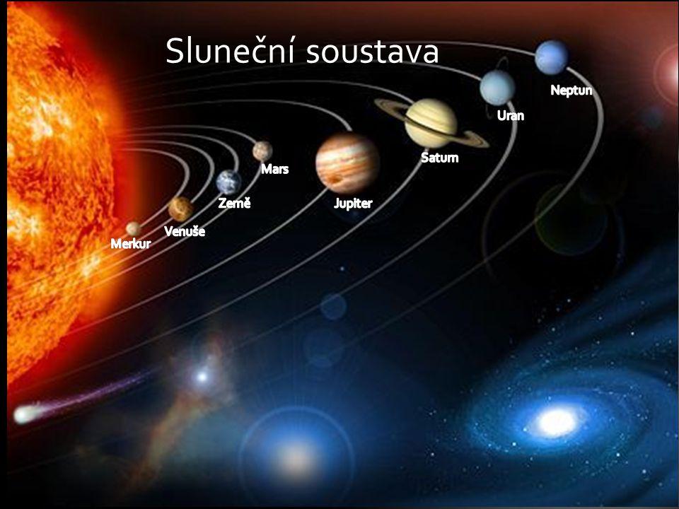 Sluneční soustava Neptun Uran Saturn Mars Země Jupiter Venuše Merkur