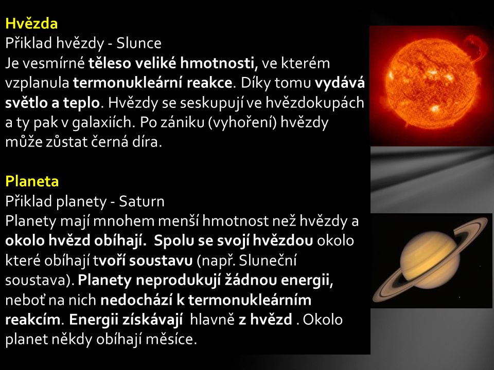 Hvězda Přiklad hvězdy - Slunce.