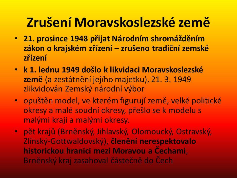 Zrušení Moravskoslezské země