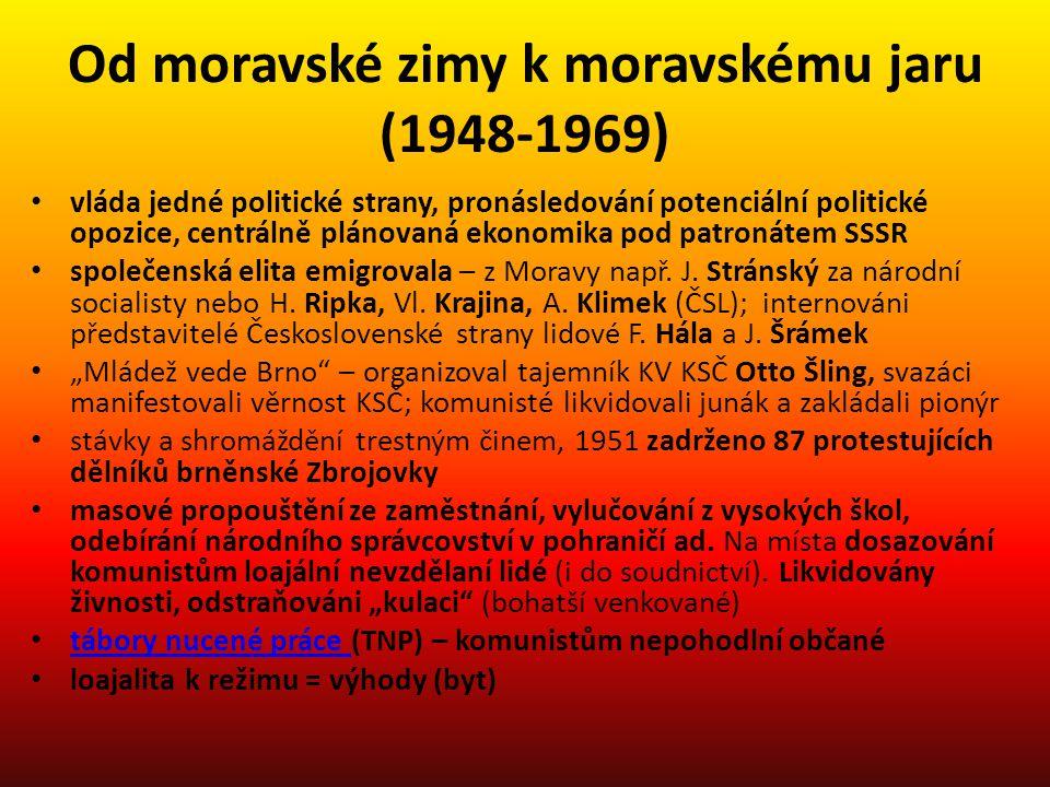 Od moravské zimy k moravskému jaru (1948-1969)