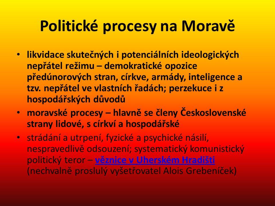 Politické procesy na Moravě