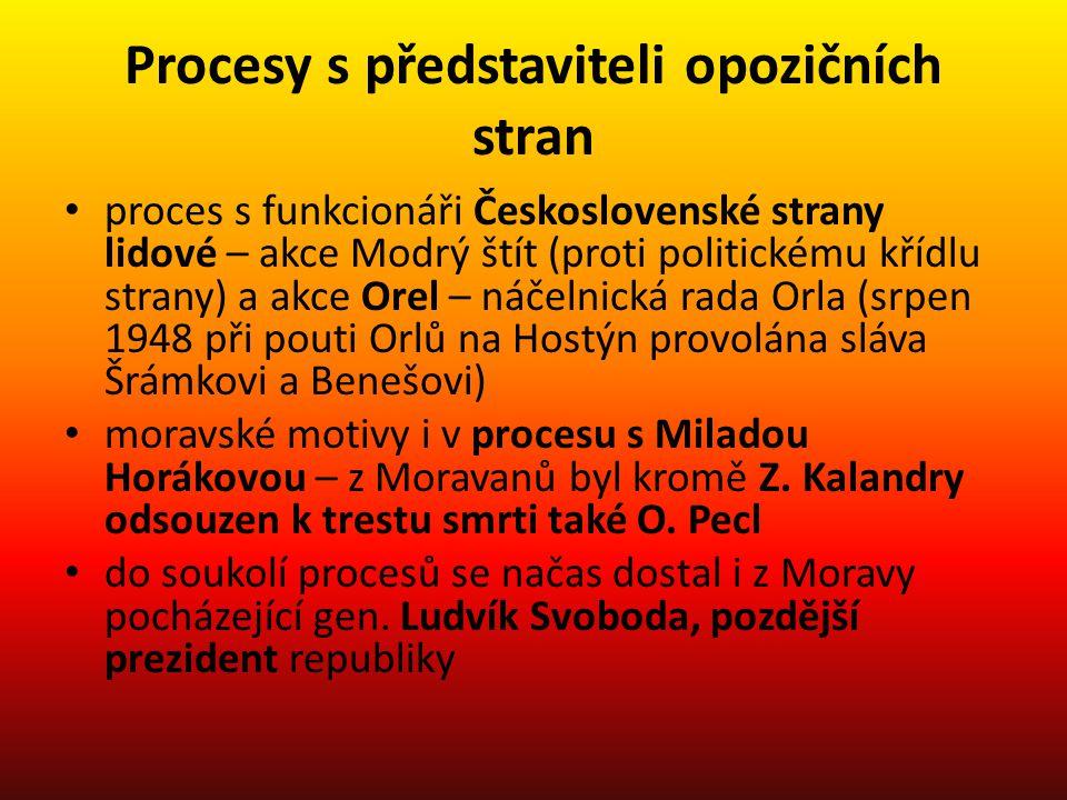 Procesy s představiteli opozičních stran