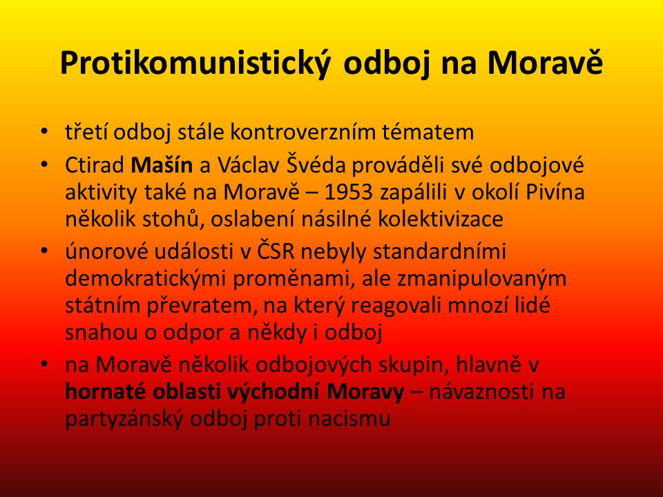 Protikomunistický odboj na Moravě