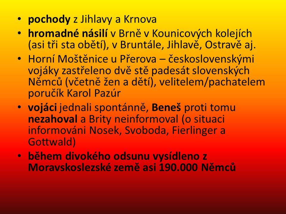 pochody z Jihlavy a Krnova