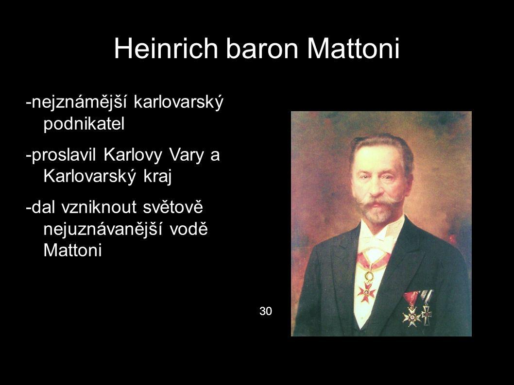 Heinrich baron Mattoni