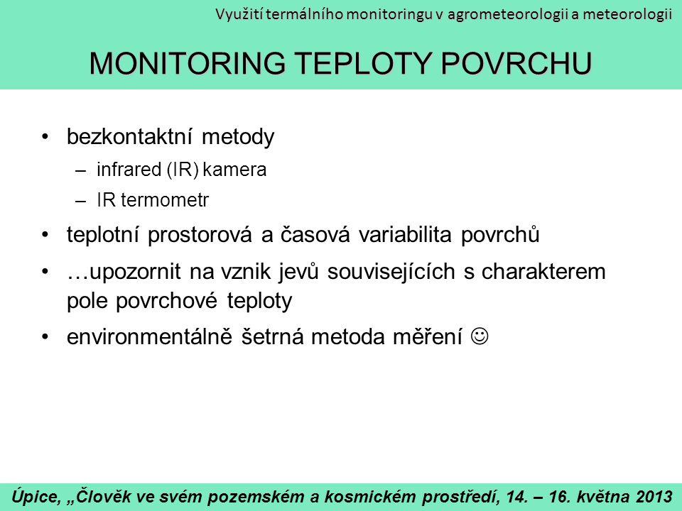 MONITORING TEPLOTY POVRCHU