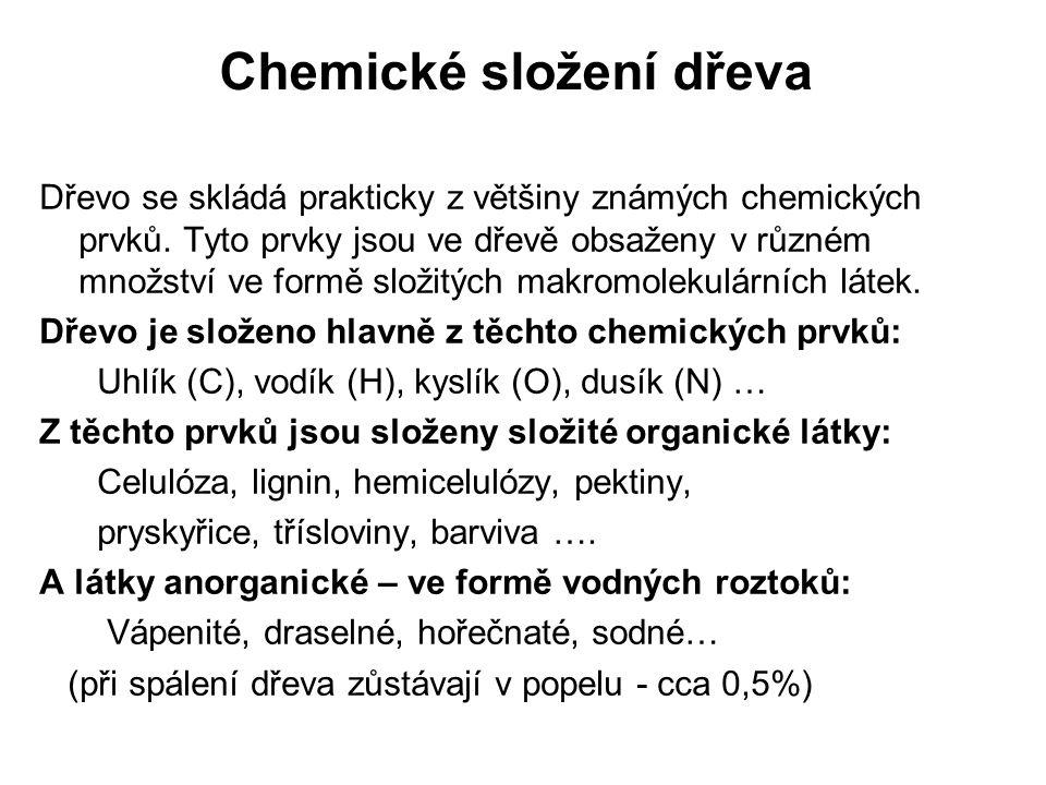 Chemické složení dřeva