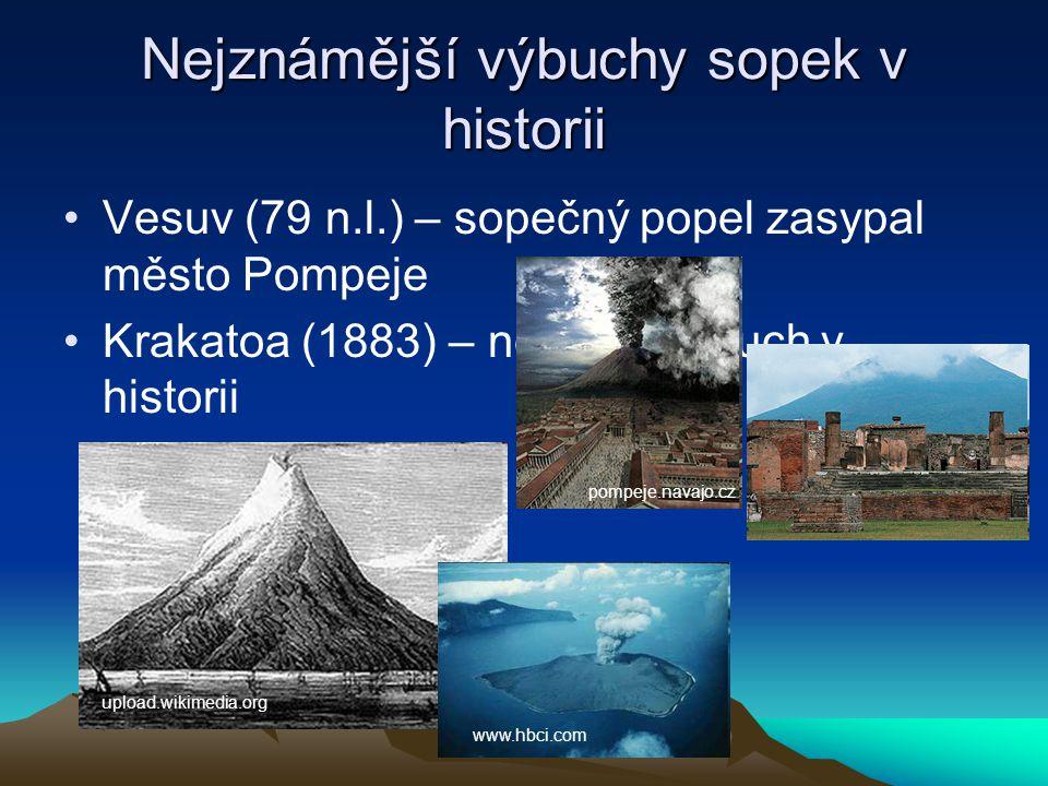 Nejznámější výbuchy sopek v historii