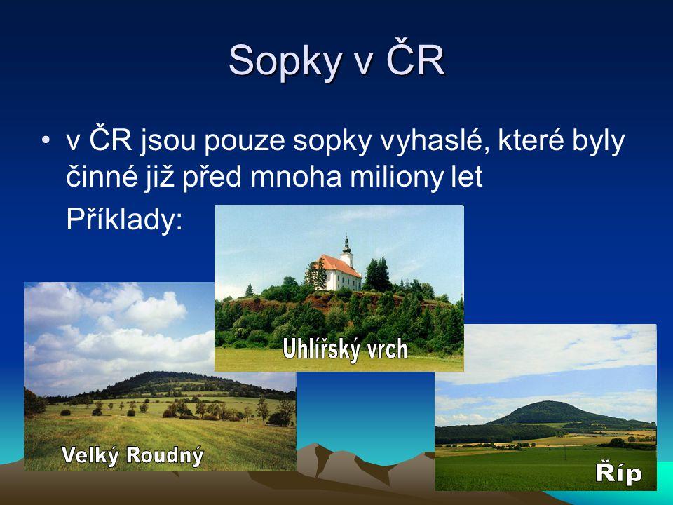 Sopky v ČR Uhlířský vrch Velký Roudný Říp