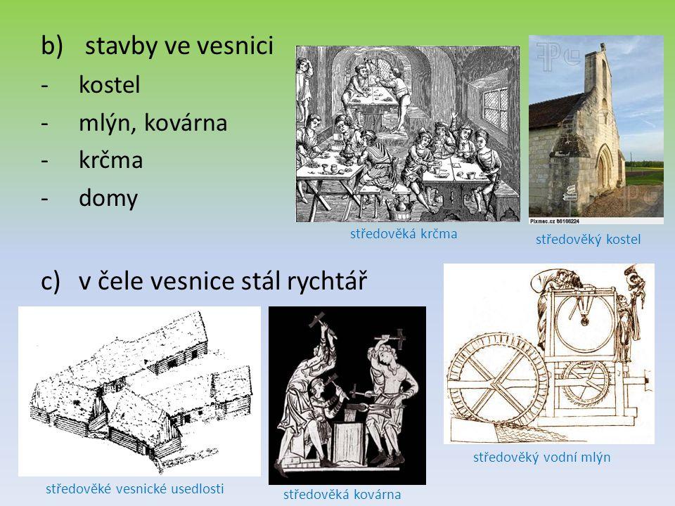 středověké vesnické usedlosti