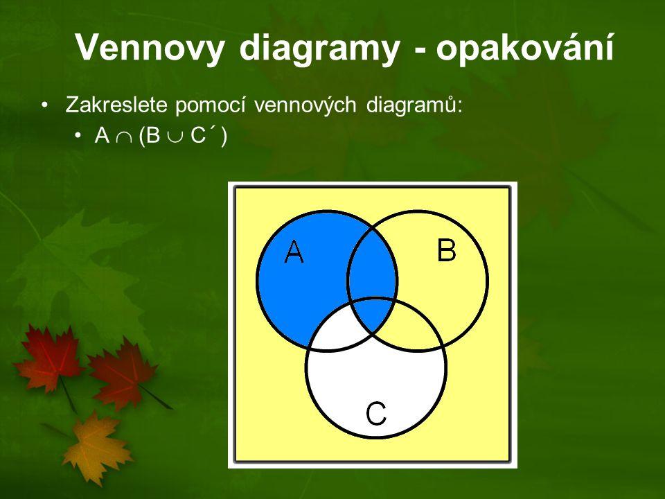 Vennovy diagramy - opakování