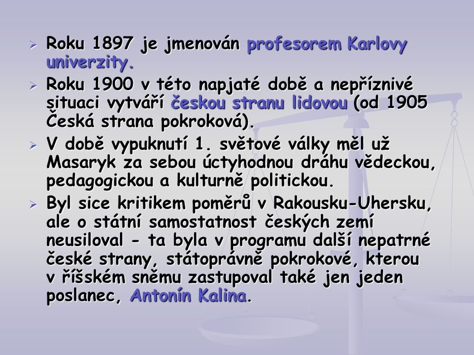 Roku 1897 je jmenován profesorem Karlovy univerzity.