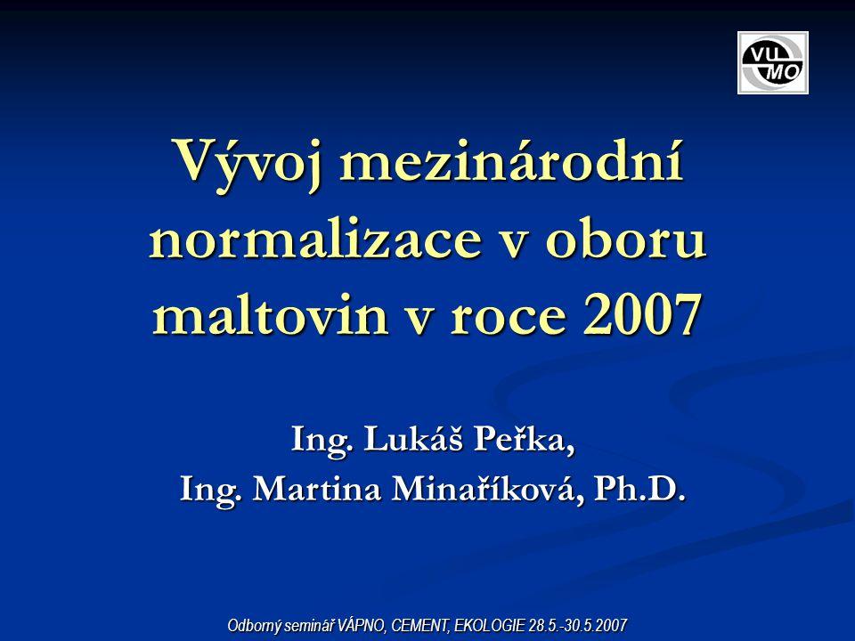 Vývoj mezinárodní normalizace v oboru maltovin v roce 2007