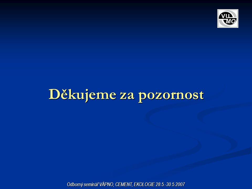 Odborný seminář VÁPNO, CEMENT, EKOLOGIE 28.5.-30.5.2007