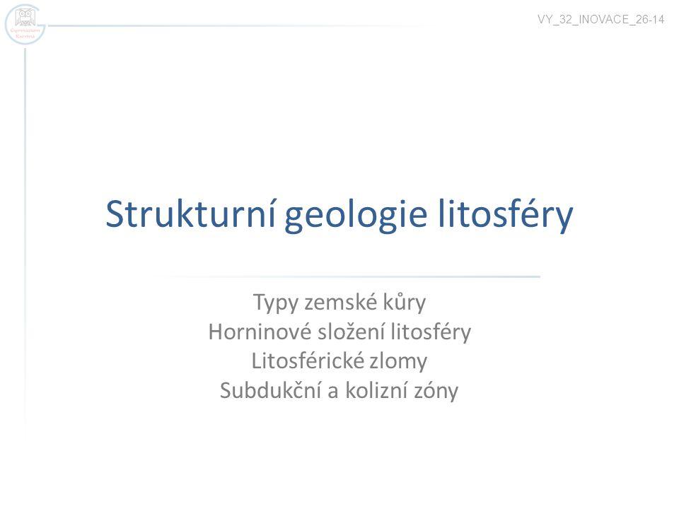 Strukturní geologie litosféry