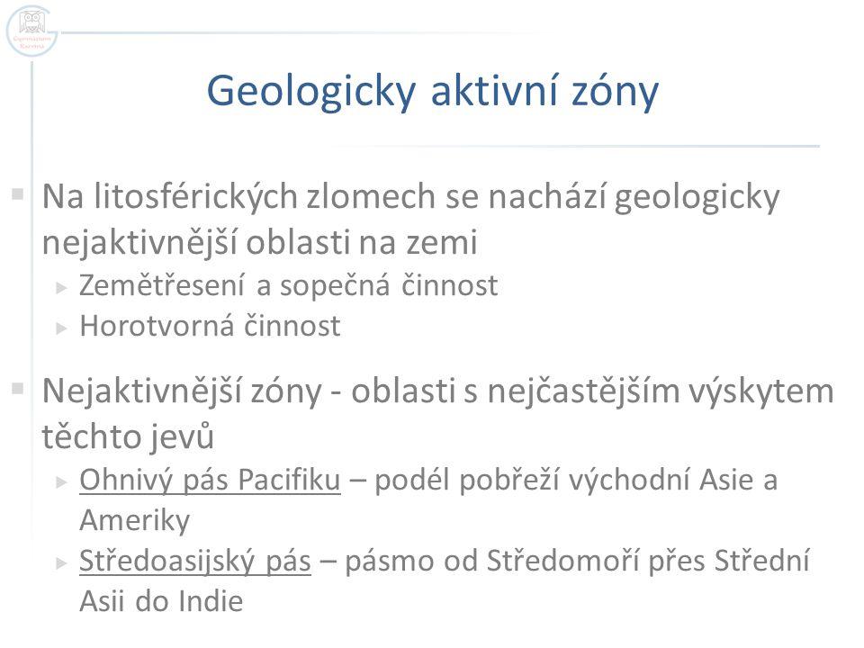 Geologicky aktivní zóny