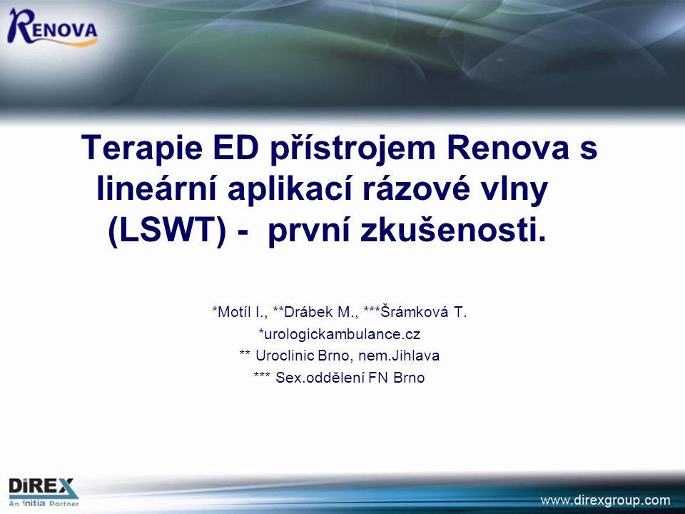 Terapie ED přístrojem Renova s lineární aplikací rázové vlny (LSWT) - první zkušenosti.