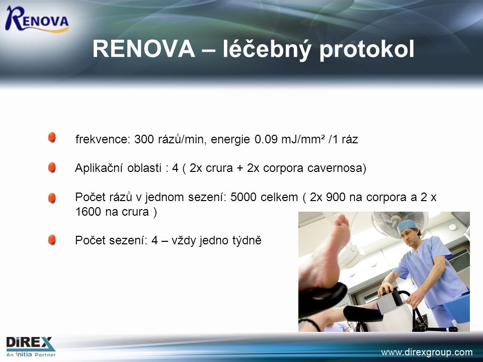 RENOVA – léčebný protokol