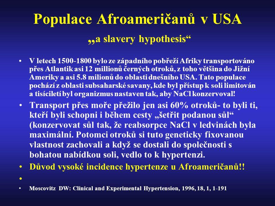 """Populace Afroameričanů v USA """"a slavery hypothesis"""
