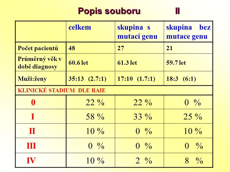 Popis souboru II 22 % 0 % I 58 % 33 % 25 % II 10 % III 0 % IV 2 % 8 %