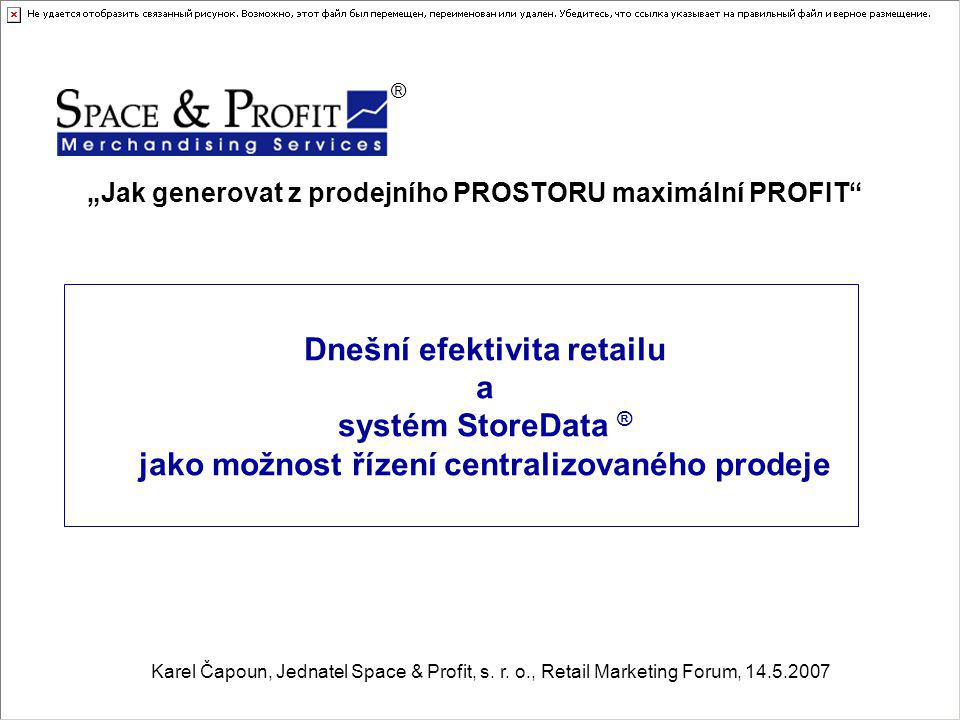"""""""Jak generovat z prodejního PROSTORU maximální PROFIT"""