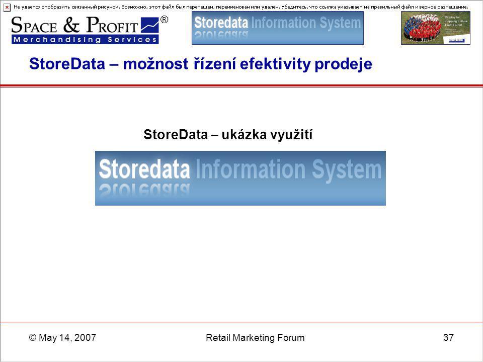 StoreData – možnost řízení efektivity prodeje