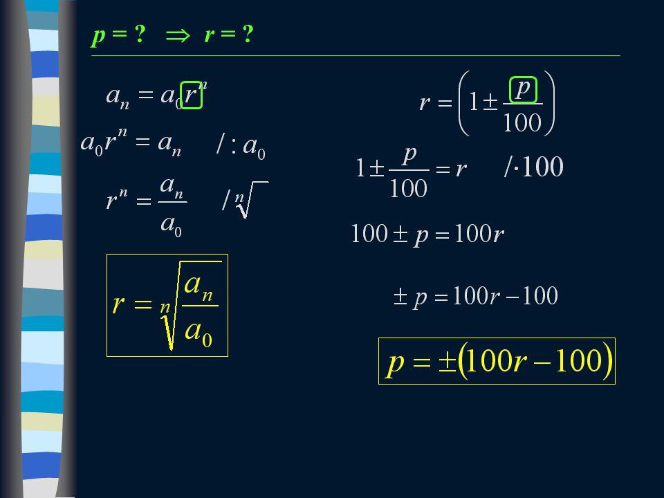 p =  r = 11