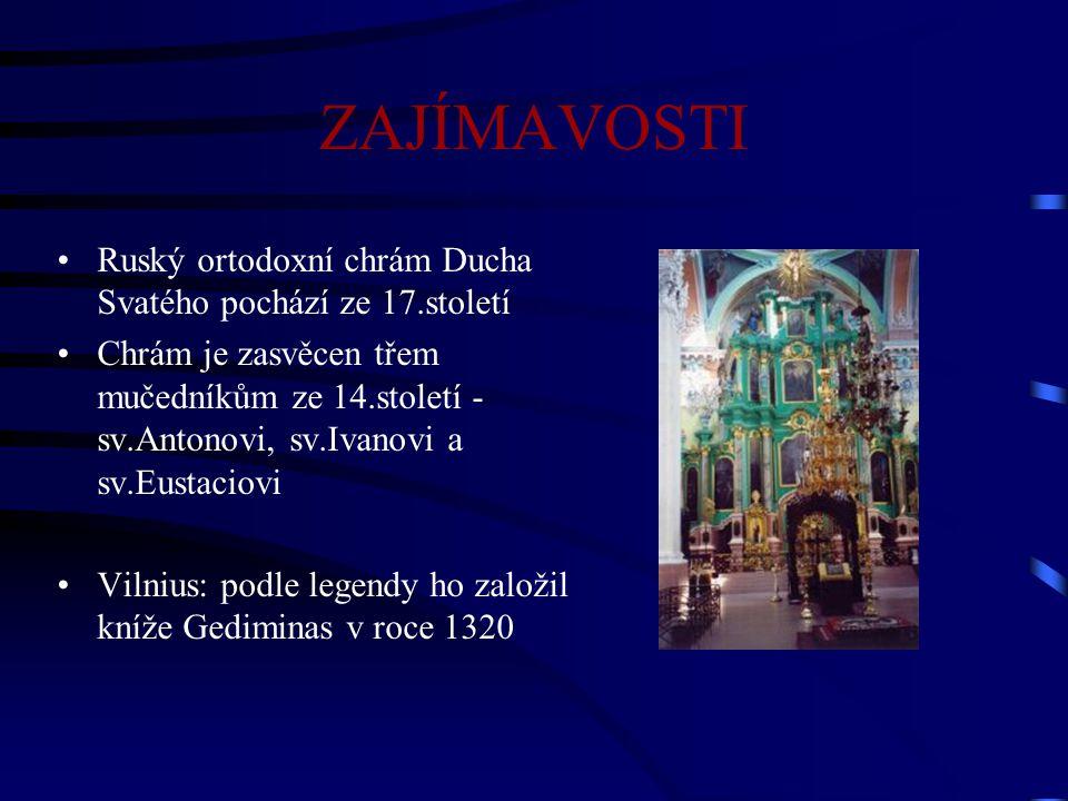ZAJÍMAVOSTI Ruský ortodoxní chrám Ducha Svatého pochází ze 17.století