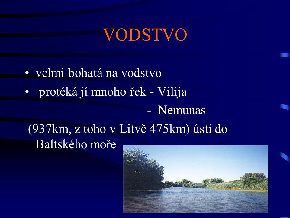 VODSTVO velmi bohatá na vodstvo protéká jí mnoho řek - Vilija