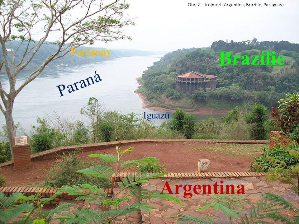 Brazílie Argentina Paraná Paraguay Iguazú