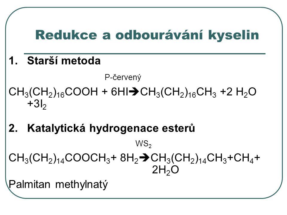 Redukce a odbourávání kyselin