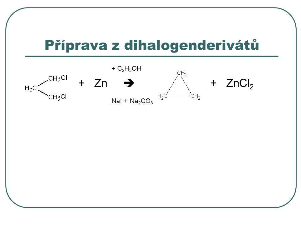 Příprava z dihalogenderivátů