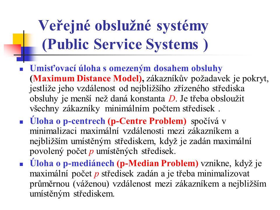 Veřejné obslužné systémy (Public Service Systems )