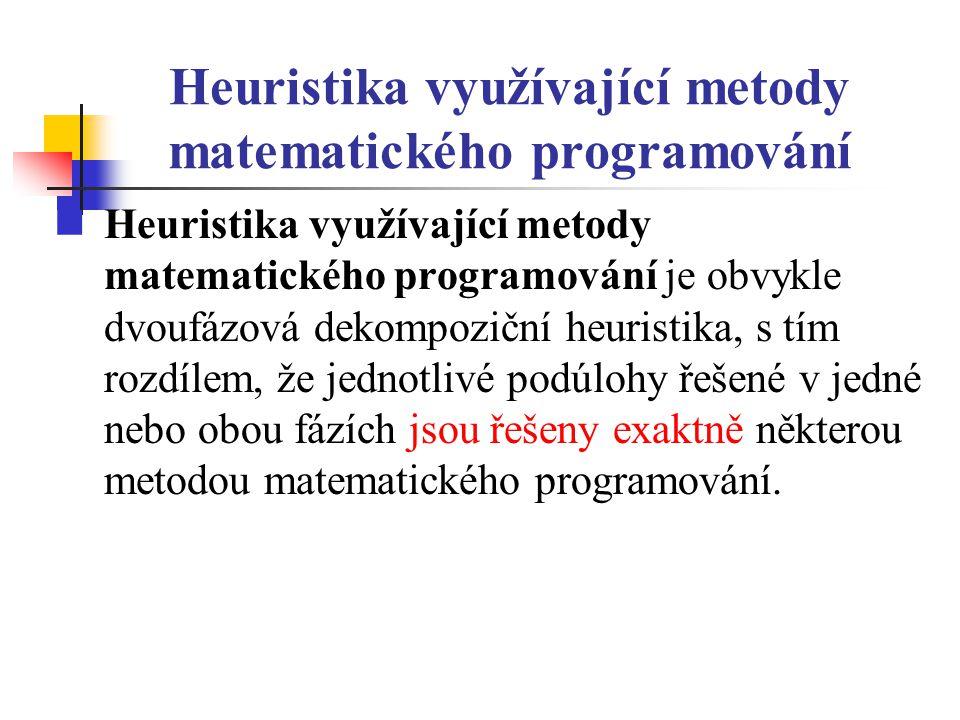 Heuristika využívající metody matematického programování