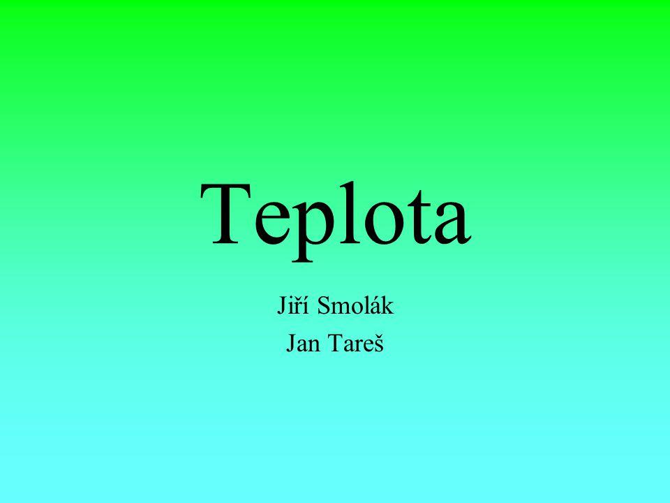 Teplota Jiří Smolák Jan Tareš