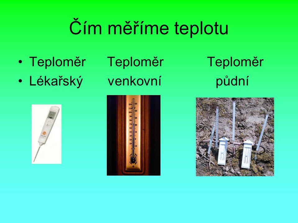Čím měříme teplotu Teploměr Teploměr Teploměr.
