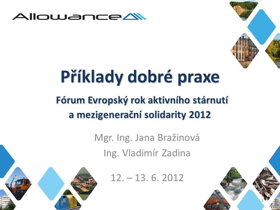 Mgr. Ing. Jana Bražinová Ing. Vladimír Zadina 12. – 13. 6. 2012