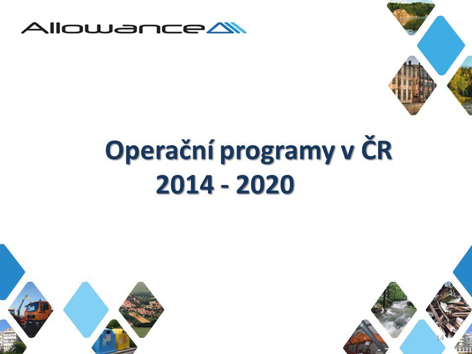 Operační programy v ČR 2014 - 2020