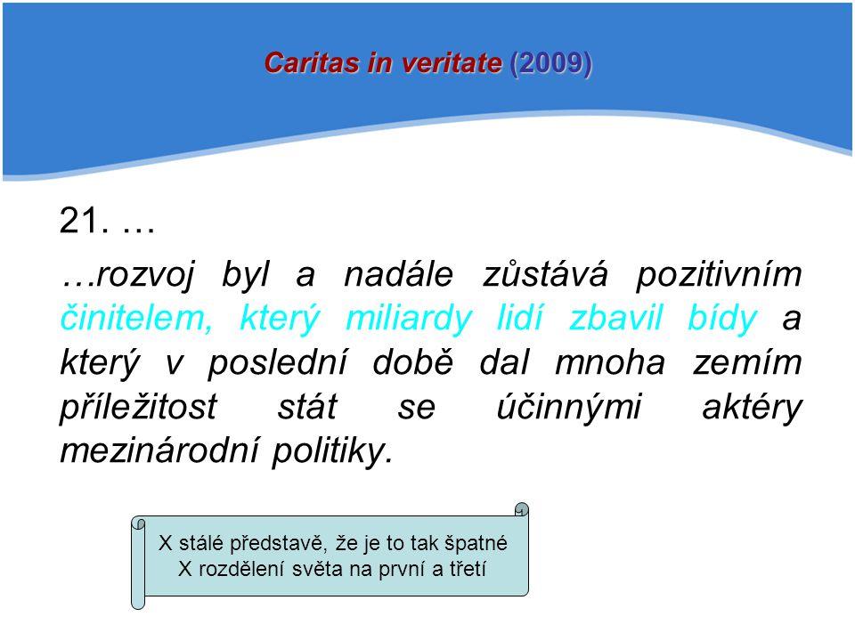 Caritas in veritate (2009) 21. …