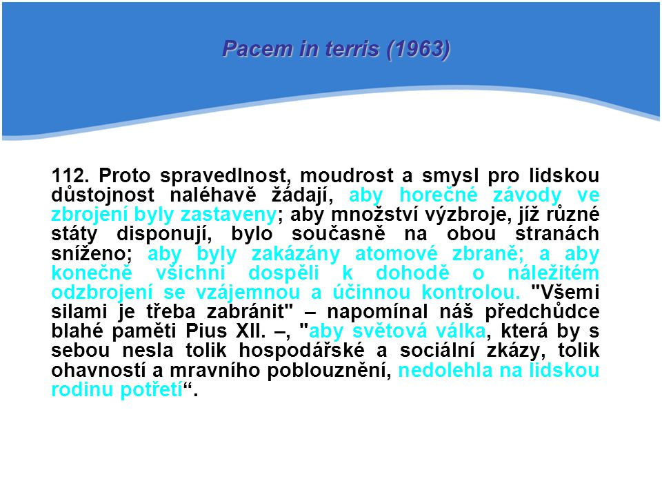 Pacem in terris (1963)