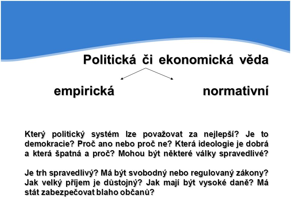 Politická či ekonomická věda