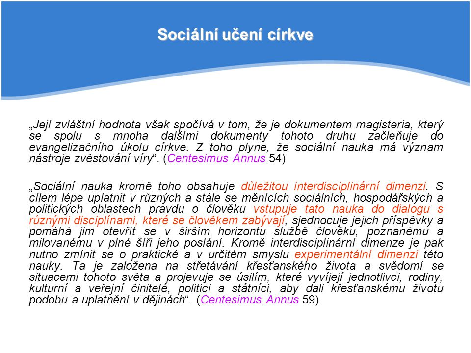 Sociální učení církve