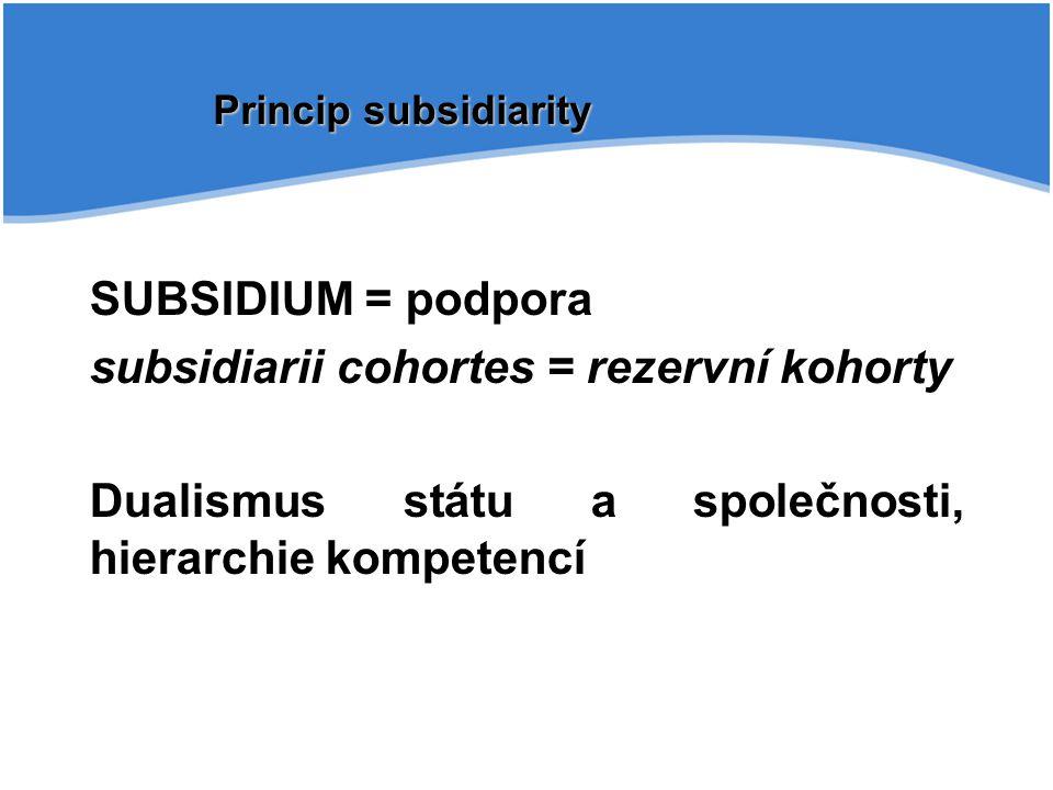 subsidiarii cohortes = rezervní kohorty