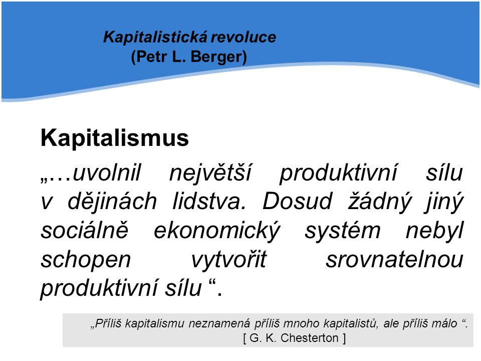 Kapitalistická revoluce (Petr L. Berger)