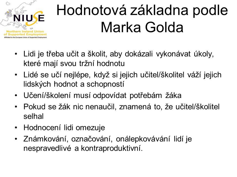Hodnotová základna podle Marka Golda